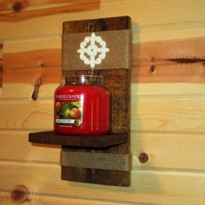 Rustic Wall Sconce, Candle Holder, Candle Sconce