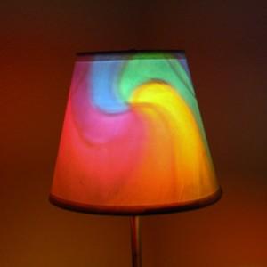 Hand-Painted Rainbow Fibonacci Spiral Mood-Light Bulb