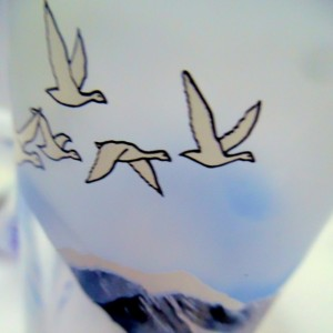 Unique Repurposed & Upcycled Grey Goose Vodka Recycled Bottle Collins DrinkingGlass