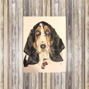 Custom Dog Portrait (8x10), Dog Portrait, Dog Portrait Custom, Custom Pet Portrait, Pet Portrait, Pet Portrait Custom