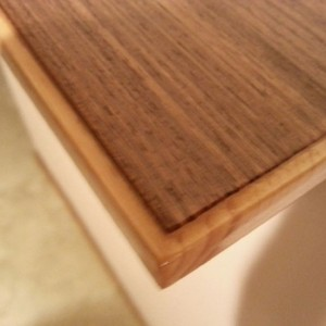 Shelf with teak veneer on pine