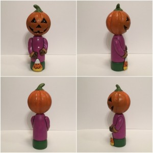 Halloween pumpkin figurine