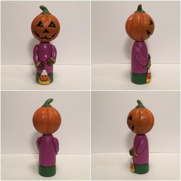 Halloween pumpkin figurine
