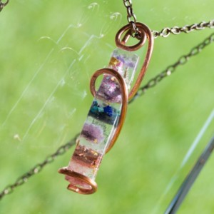 "Orgonite® Wand Pendant  - ""Orion's Unicorn"" Orgone Necklace - Crystal Artisan Jewelry"