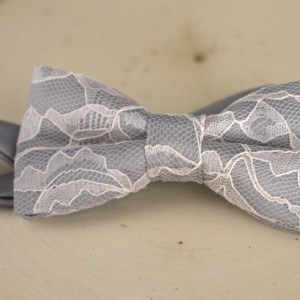 Gray Blush Mens Bow Tie - Grey Bow Tie - Grey Mens Bow Tie - Blush Bow Tie - Gray Bow Tie - Pink Bow Tie - Wedding Bow Tie - Bridal Bow Tie