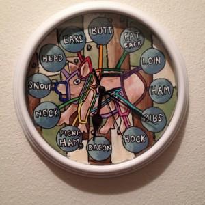 Butcher Diagram Clock