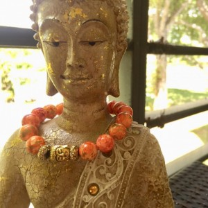 Orange Buddha Bracelet