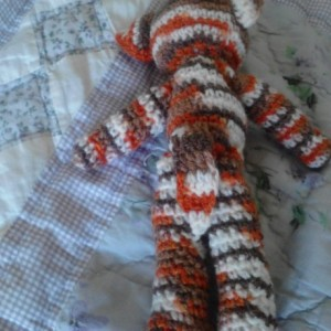 8.5in Brown Variegated Kitty Toy