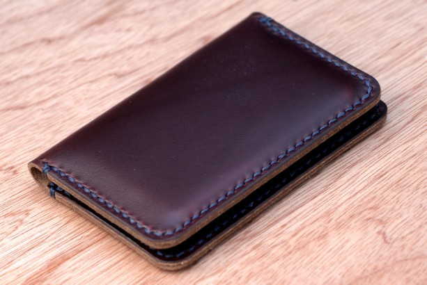 new product f1613 5ebd3 Leather Card Wallet, Chromexcel Leather Card Holder, Horween Leather Slim  Wallet, Minimalistic Leather Wallet, Burgundy Chromexcel Bifold