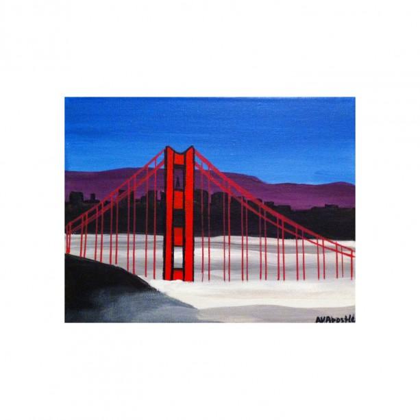 "San Francisco Golden Gate Bridge #3 - 8""x10"" PRINT Signed By Artist A.V.Apostle"