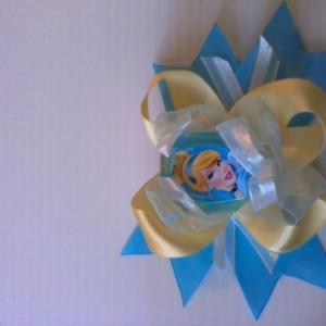 Cinderella Inspired Hair Bow Disney Princess