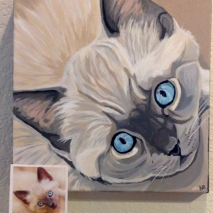 "Bartlett - Custom Pet Portrait - 12"" x 12"" x 1.5"""