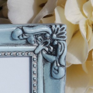 Small ornate frames, Pale vintage baby blue picture frames, Blue wedding decorations, Home decor