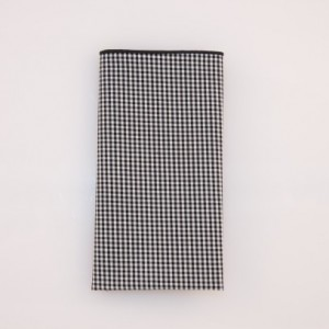 Pocket Square  - Black/White Small Check