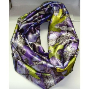 "Infinity scarf - Purple Camo Infinity Scarf True Timber Satin ""HandMade"" (7.5""x29"") Matching Hair scrunchies, Country Chic, Cottage Country"