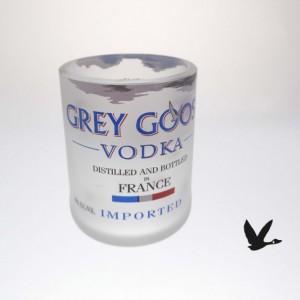 Grey Goose Glass Set (6) Upcycled Shot Glasses