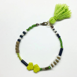 Tassel layering mixed beaded bracelet