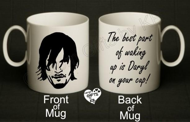 Daryl Dixon Mug, Zombie cup, Daryl Mug | aftcra