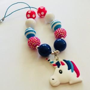 Unicorn Chunky Necklace, Unicorn Bubblegum Necklace, Unicorn Gumball Necklace, Kid Jewelry, Gift for Her, Chunky Necklace, Ready To Ship