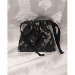 Drawstring Bag, Digital Camo, Mens Travel Bag, Small Tool Pouch, Change Bag, Black Drawstring Bag, Mens Durable Bag, Thick Drawstring Bag