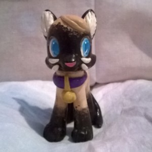 Custom OOAK My Little Pony Toy Figure: Sagwa the Siamese Cat