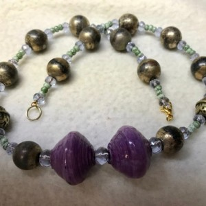 "Far Flung Adventures handmade beaded necklace 19"" long"