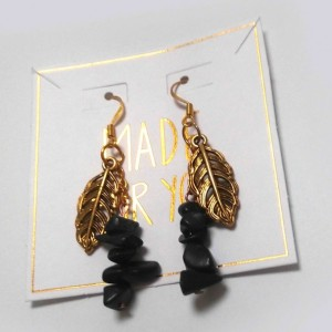 Gold Leaf Jasper Earrings