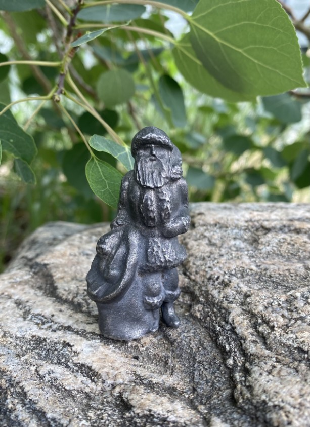 Santa Claus pewter figurine, hand cast