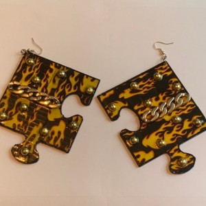 Flamin puzzle earrings