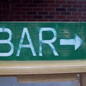Wood Bar Sign. Distressed Wood Sign, Rustic Wood Sign. Folk Art Sign, Home Decor, Wall Art