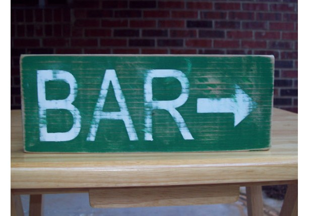 Wood Bar Sign. Distressed Wood Sign, Rustic Wood Sign. Folk Art Sign, Home Decor, Wall Art