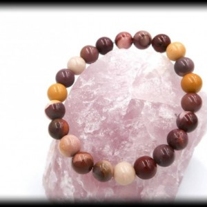 Mookaite Solid Gemstone Bracelet for Anxiety and Insomnia