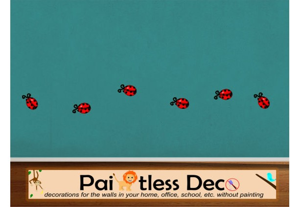 Ladybugs Wall Decal - 12pc set