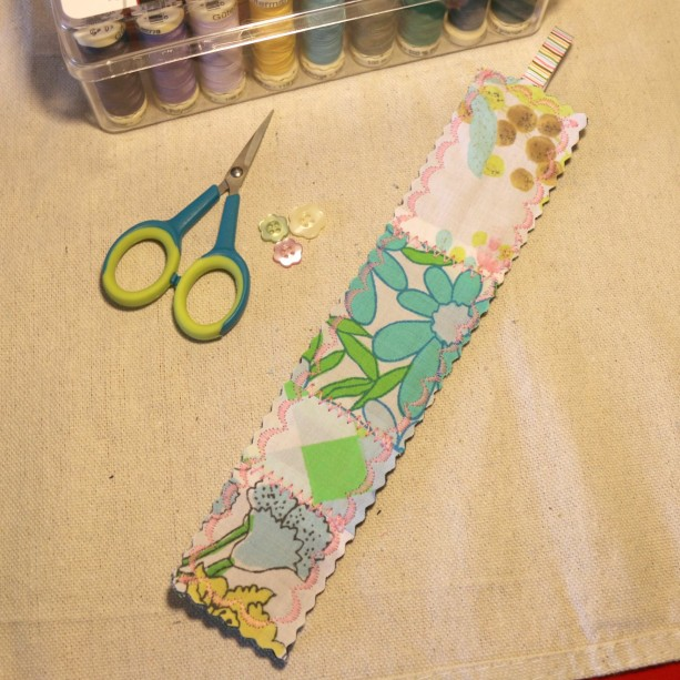 Shabby Quilted Vintage Bookmark