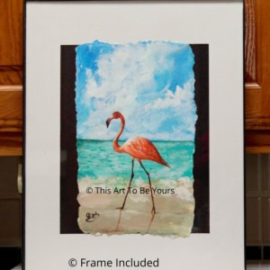Beach Bird Original acrylic painting