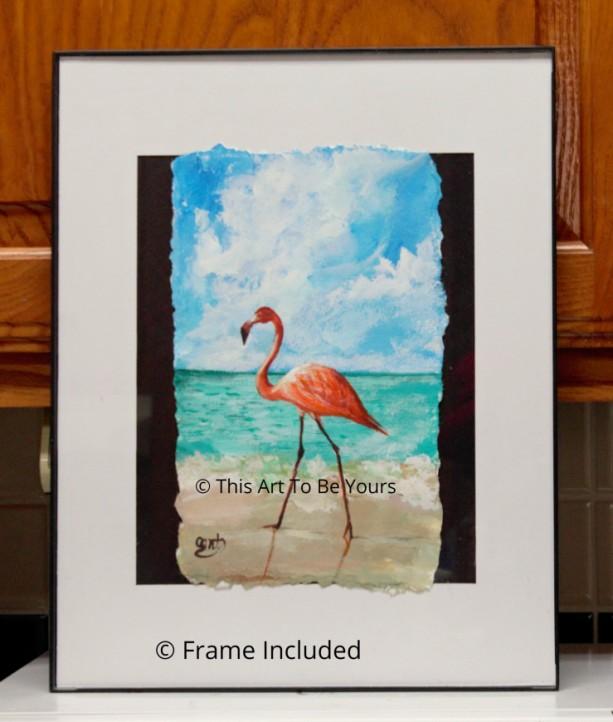 Beach Bird Original acrylic painting