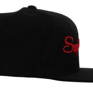 Super Gangsta Snap Back Baseball Hat - Black & Red