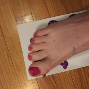 Canvas Foot Painting & Photo Album Set with Complimentary Socks