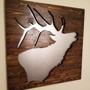 Rustic Elk Silhouette Wall Art