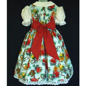 NEW Handmade Kittens W/Ornaments Christmas Dress Set Custom Sz 12M-14Yrs