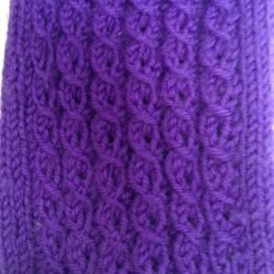 Purple Knit Cable Socks