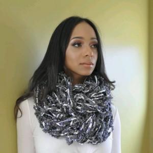 Multi Grey Combo / MultiColor / Arm Knit / Handmade / Infinity / Hood  /  Loop /  Scarf