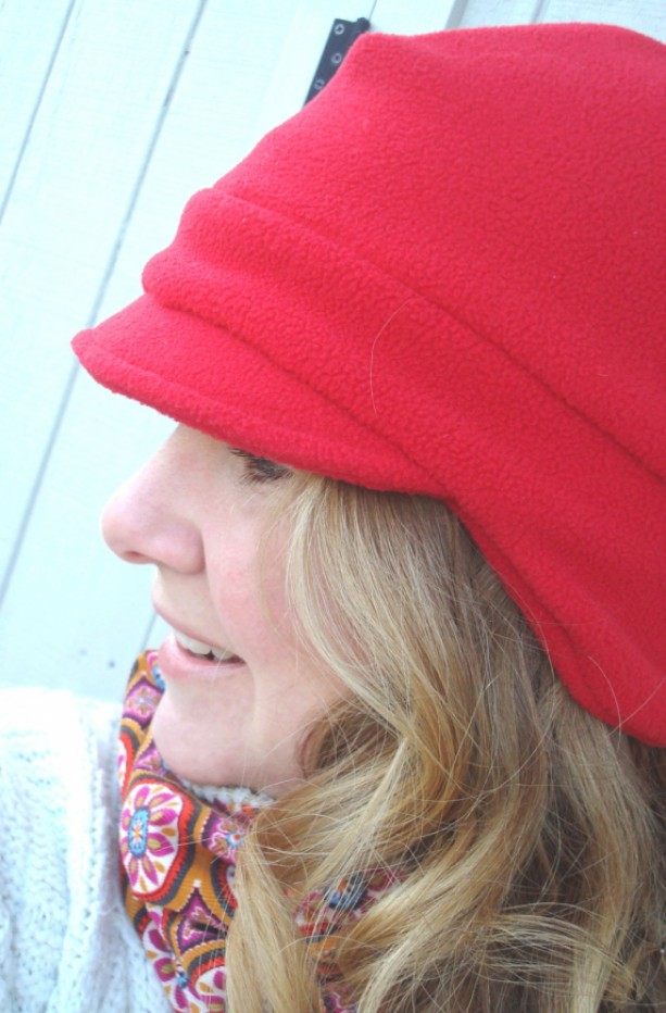 Winter Fleece Hat - Women's Winter Hat  - Women's Fleece Newsboy Hat