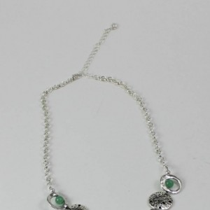 "Green Sea Turtle with Green Aventurine Stone 17"" Necklace"