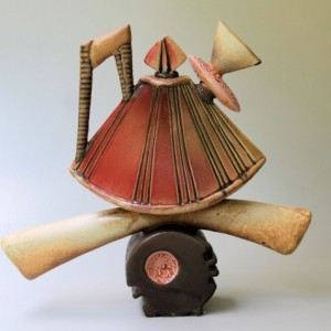 Tea Pot Sculpture Helene Fielder