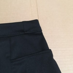 Colorblock ponte black grey skirt