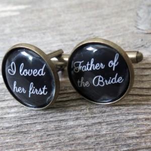 Father of the Bride Cufflinks - Wedding Cufflinks - Cufflinks For Father of the Bride - Wedding Accessories - Cufflinks For Dad - Keepsake