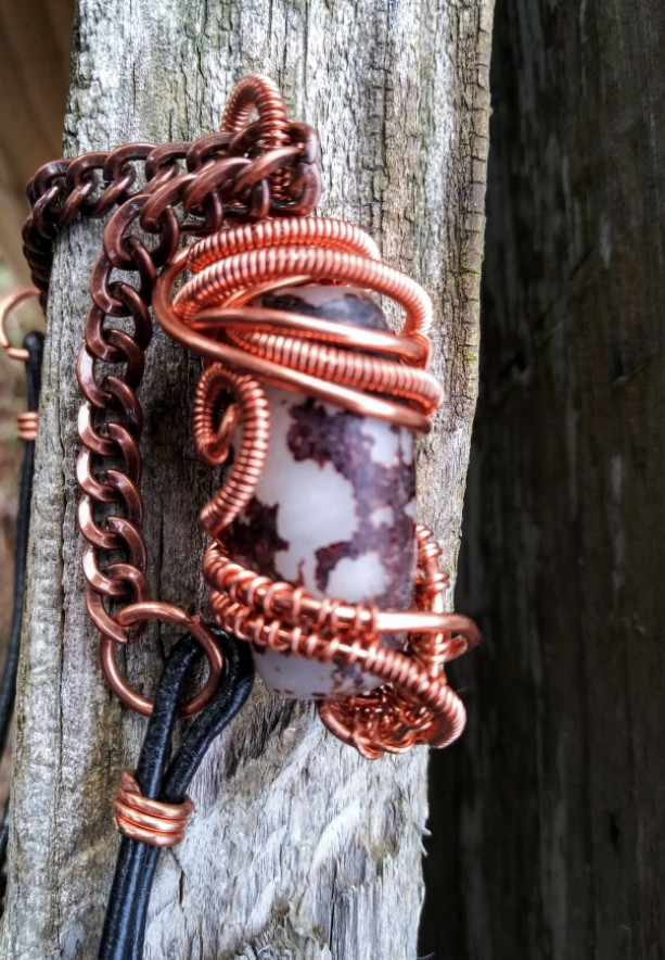 Copper Wrapped Pendant
