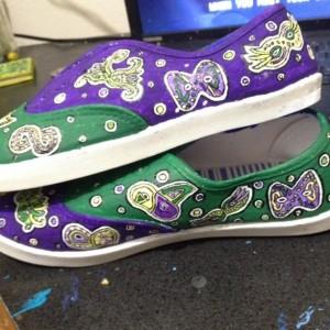 Mardi Gras Mask Shoes