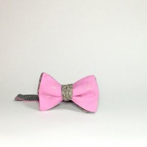 reversible bow tie reversible bowtie magnet bow tie groomsmen tie wedding accessories self tie bow tie freestyle tie pink anchor tie